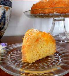 Mandarin Orange Upside Down Cake, a bundt cake made with mandarin oranges, orange juice and apricot jam. Dense and not too sweet, this cake is a delicious way to welcome spring | Recipe developed by www.BakingInATornado.com | #recipe #orange #cake