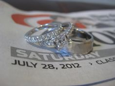 day of newspaper with rings!