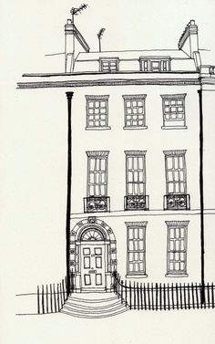 townhouse001+copy.jpg 1,000×1,600 pixels Townhouse sketch for embroidery