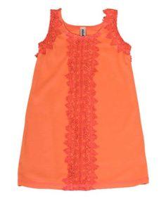 Loving this Orange Tank Dress - Kids on #zulily! #zulilyfinds