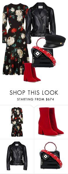 """roses"" by getdressedwithme on Polyvore featuring moda, Dolce&Gabbana, Maison Margiela, Acne Studios, Les Petits Joueurs i Henri Bendel"