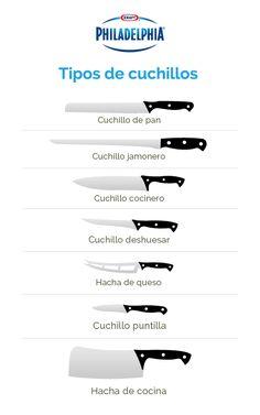 #TipPhiladelphia Conoce los diferentes tipos de cuchillos.