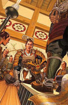 """""""Illustration - Samurai Nº 1: Heaven and Earth"""", Luke Ross"""