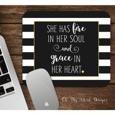 Mouse Pad-Scripture Mouse Pad-Desk Accessories-Stripe Mouse Pad-Grace... ($14) ❤ liked on Polyvore featuring home, home decor, office accessories, dark olive, home & living, office, office & school supplies, personalized mouse pads and mouse pad High School Supplies, Office Accessories, Mousepad, Home And Living, Letter Board, Dark, Space, Words, Polyvore