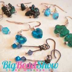 Earrings for Beginners Workshop at The Big Bead Show April 2013, with Bead's editor Chloe Menage. #BigBeadShowCompetition