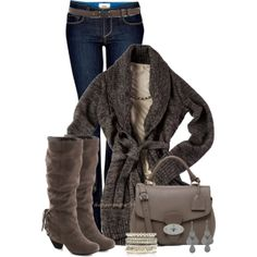 """Cable Wrap Cardigan"" by shannonmarie-94 on Polyvore"