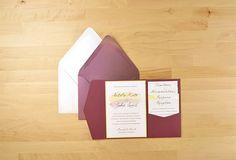 Sparkling Merlot (Great marsalla-esque color) Wedding invitation stationery suite!