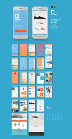 Compact mobile UI kit with all the necessary elements to get creative! This kit includes layered photoshop files, layered fireworks PNG files, and a bonus set of icons in Ai & EPS format.