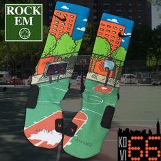 Check out Rock'Em Apparel for custom Nike Elite Socks and shoes Nike Elite Socks, Nike Socks, Sport Socks, Crazy Socks, Cool Socks, Awesome Socks, Kd Shoes, Sock Shoes, Nike Basketball Socks