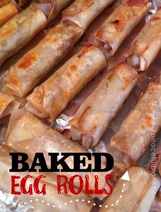 In an effort to eat healthier have you given up foods that were fried? Well here's a baked version of egg rolls that you're gonna love! They are filled with veggies and taste wonderful! Serve with some brown rice and you've got one healthy meal!