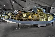 This was a real PBY Catalina that was cutaway to show interior crew stations. This cut away was used as a teaching aid to train WWII PBY crewmen at NAS Pensacola. Airplane Flying, Airplane Art, Flying Boat, Amphibious Aircraft, Ww2 Aircraft, Military Aircraft, Aircraft Engine, Us Navy Aircraft, Float Plane