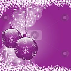 purple christmas pictures | Christmas balls purple stock vector clipart, Christmas scene with ...