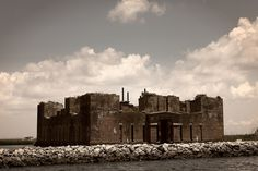 """This 19th century fort lies in ruins near the shore of Lake Borgne. It is also known as Fort Beauregard or Beauregard's Castle. It was built to protect New Orleans during the """"war of northern aggression"""" but was never garrisoned because it quickly became obsolete due to artillery improvements.    St. Bernard Parish.  Near Alluvial City, Louisiana"""