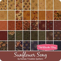 "Sunflower Song Jelly RollKansas Troubles Quilters for Moda Fabrics - Jelly Rolls & 2.5"" Strips 