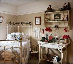 Decorating theme bedrooms - Maries Manor: primitive americana decorating style - folk art - heartland decor - Colonial & Country style decorating Americana bedroom designs - Primitive Country Rustic decor