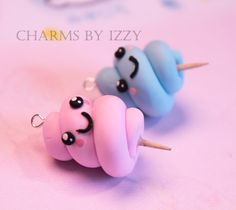 Cute cotton candy charms creds to charms by izzy