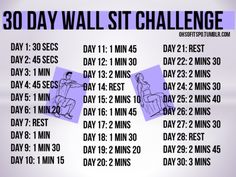MUSCLE GAINS: Wall sits are insane but so effective. They improv...