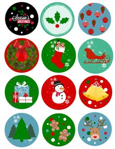 Free printable stickers for Christmas, planning, teachers, and more! Christmas Stickers Printable, Free Printable Stickers, Free Christmas Printables, Christmas Paper Crafts, Christmas Clipart, Holiday Crafts, Christmas Decorations, Christmas Topper, Felt Christmas