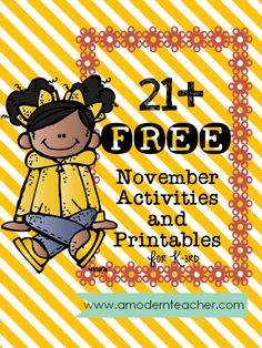 21 free November Activities and Printables www.amodernteacher.com. Repinned by SOS Inc. Resources pinterest.com/sostherapy/.