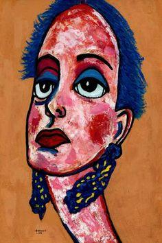 """Saatchi Art Artist CARMEN LUNA; Painting, """"4-Ciudadanas."""" #art"""