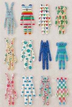 Print & Pattern has a new sponsor this week in the shape of Craftholic , a Japanese label who are now in the UK. These super soft cuddly c. Sewing Toys, Sewing Crafts, Sewing Projects, Simple Sewing Machine, Print Patterns, Sewing Patterns, Pattern Print, Shapes For Kids, Sock Dolls