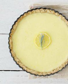 Lemon tart with rosemary crust | by goodthingstogrow.com | via http://happyolks.com