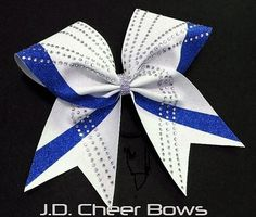 Willow (A) - Rhinestone and Glitter Cheer Bow - your choice of colors, Glitter Cheer Bows, Cheer Bow, Rhinestone Cheer Bow Softball Bows, Cheerleading Bows, Cheer Bows, Cheer Clothes, Cheer Outfits, Hair Bow Supplies, Gymnastics Leos, Glitter Heat Transfer Vinyl, Cheer Uniforms