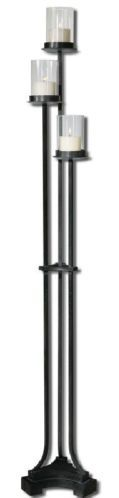 68 Arla Tall Floor Standing Iron Pillar Gothic Candle Holder Holders Large
