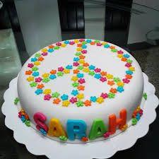 Resultado de imagen para tortas con simbolo de amor y paz