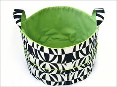 Jumbo Fabric Tub (round basket with handles) tutorial - Sew4Home