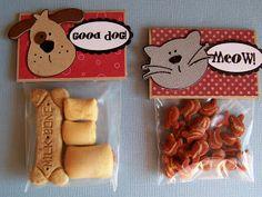 Puppy and Kitty Treat Bags - Great for Christmas Stocking for Pets and Craft Show Items - Blooming Where I'm Planted.....