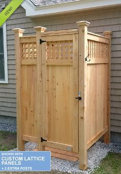 Outdoor Showers NH : Standard House Mount Cape Cod Outdoor Shower Kits