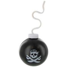 Black Pirate Cannon Ball Sipper Cup