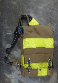 Fire Bag: made from recycled firefighter gear. By Uriel Eisen