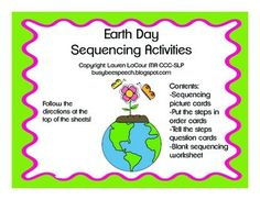 Earth Day Sequencing Activities