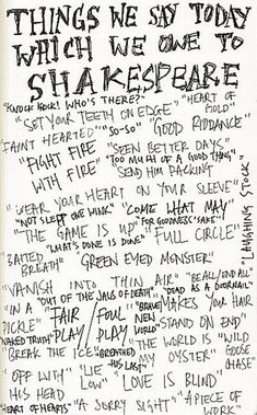 Amazing that we got all these phrases from Shakespeare! Do your kids know that? ;)