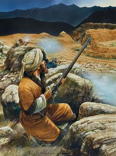 Indian rebel armed with Martini-Henry rifle, Courtesy of Peter Dennis