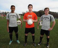 Ames boys' soccer team members, from left, Michael Hegelheimer, Chris Halbur and Josh Engelken will lead the Little Cyclones this spring. Photo by Nirmalendu Majumdar/Ames Tribune