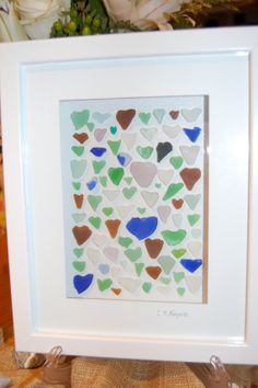 Heartshaped Seaglass Wall Art by TheSummerCottage on Etsy, $125.00
