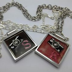 Square Resin Charm Necklace
