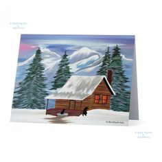 Now for sale on URCrafti.com See Cabin in the Woods note card - Winter Scene painting Here https://urcrafti.com/product/cabin-in-the-woods-note-card-winter-scene-painting-2/ %HTAgs%