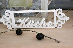 Wunderbar romantisches Türschild für dein zu Hause.    Aufwendige Ornament an beiden Seiten. Zum hängen geeignet.