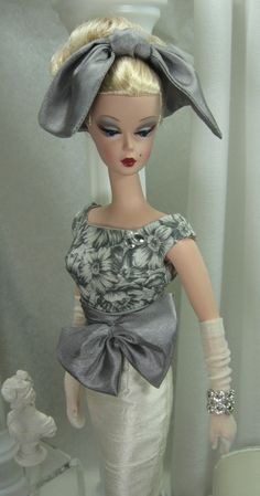 Grey+Veil+For+Silkstone+Barbie+by+MatisseFashions+on+Etsy
