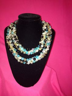 Celestial Crystal multi colored double by SassyGirlJewelrycom, $100.00