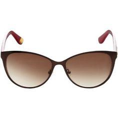 Juicy Couture JU535S Cat Eye Sunglasses,Dark Cabernet,56 mm