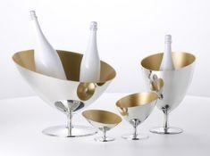 Déco dorée seaux champagne