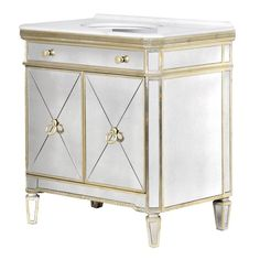 32 Inch Nemo Vanity Mirrored Sink Chest Mirrored Sink Vanity Bathroom Vanity Designs Vanity Design Bathroom Vanity