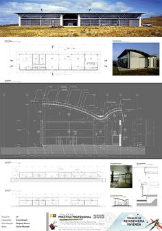 Magney House by Glenn Murcutt was re-engineered responding to a different socio-technical context, creating construction drawings and cost-estimation. Glen Murcutt, Sawtooth Roof, Construction Drawings, Types Of Houses, Traditional House, Architecture Details, Thesis, Apartments, Workshop