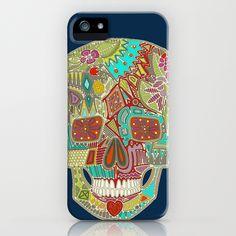 flower skull iPhone Case