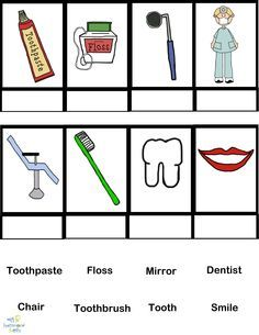 PictureSET: Sub Category Dental Vocabulary. PDF and boardmaker ...